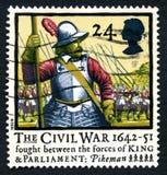 Αγγλικό βρετανικό γραμματόσημο εμφύλιου πολέμου Στοκ Φωτογραφίες