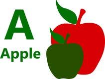 Αγγλικό γράμμα Α αλφάβητου για τη Apple Στοκ φωτογραφίες με δικαίωμα ελεύθερης χρήσης
