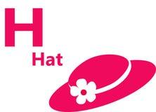 Αγγλικό γράμμα χ αλφάβητου για το καπέλο Στοκ Εικόνα