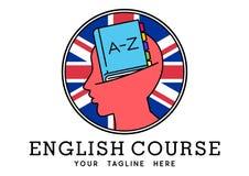 Αγγλικό λογότυπο σειράς μαθημάτων Στοκ φωτογραφίες με δικαίωμα ελεύθερης χρήσης