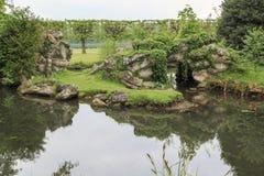 Αγγλικό πάρκο σε Chantilly στοκ εικόνες