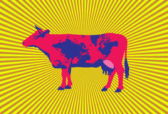 αγελάδα ανασκόπησης Στοκ Εικόνες
