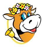 αγελάδα αστεία Στοκ εικόνα με δικαίωμα ελεύθερης χρήσης