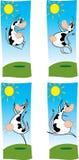 αγελάδες ευτυχείς Στοκ εικόνα με δικαίωμα ελεύθερης χρήσης