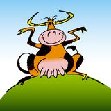 αγελάδα αστεία Στοκ Φωτογραφίες