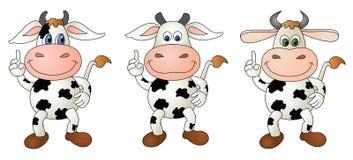 Αγελάδα 5 γυμνή - σύνθετο διανυσματική απεικόνιση