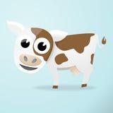 Αγελάδα κινούμενων σχεδίων Στοκ εικόνες με δικαίωμα ελεύθερης χρήσης
