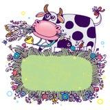 Αγελάδα κινούμενων σχεδίων ελεύθερη απεικόνιση δικαιώματος