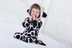 αγελάδα κοστουμιών μωρών Στοκ φωτογραφίες με δικαίωμα ελεύθερης χρήσης