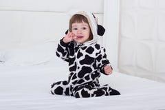 αγελάδα κοστουμιών μωρών Στοκ Εικόνα