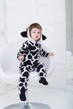 αγελάδα κοστουμιών μωρών Στοκ Εικόνες