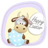 Αγελάδα με το αυγό ελεύθερη απεικόνιση δικαιώματος
