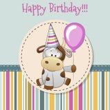 Αγελάδα με το μπαλόνι διανυσματική απεικόνιση