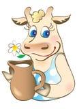 αγελάδα χαριτωμένη Στοκ Φωτογραφία