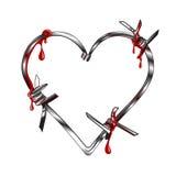αγκάθια καρδιών Στοκ Εικόνα