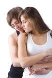 αγκάλιασμα ζευγών Στοκ Φωτογραφία