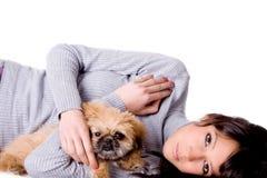 αγκάλιασμα του κουταβ& Στοκ Εικόνα
