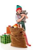 αγκάλιασμα Χριστουγέννων Στοκ εικόνα με δικαίωμα ελεύθερης χρήσης