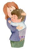 αγκάλιασμα του γιου μη&ta ελεύθερη απεικόνιση δικαιώματος