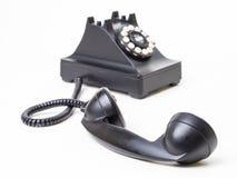 αγκίστρι από το αναδρομικό τηλέφωνο Στοκ Εικόνα