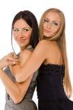 Αγκαλιάζοντας τις φίλες που απομονώνονται Στοκ Εικόνες