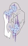 Αγκαλιά ανδρών και γυναικών Χέρι - γίνοντη απεικόνιση Στοκ φωτογραφία με δικαίωμα ελεύθερης χρήσης