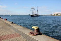 Αγκυροβόλιο - μια θέση στην ακτή για την πρόσδεση Στοκ Εικόνες
