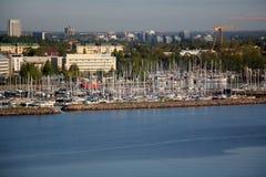 Αγκυροβόλιο - μια θέση στην ακτή για την πρόσδεση Στοκ Εικόνα