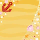 Αγκύλη και κοχύλια στην παραλία Ελεύθερη απεικόνιση δικαιώματος