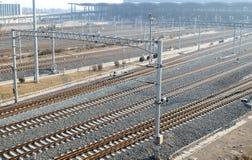 Αγνοήστε τις ράγες σιδηροδρόμων Στοκ φωτογραφία με δικαίωμα ελεύθερης χρήσης