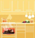 Αγνοημένο κοτόπουλο ψητού σε έναν φούρνο Μμένα τρόφιμα στην κουζίνα ελεύθερη απεικόνιση δικαιώματος