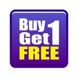 1 αγοράζει ελεύθερο παίρ&n Στοκ Φωτογραφίες