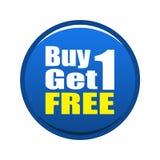 1 αγοράζει ελεύθερο παίρ&n Στοκ φωτογραφία με δικαίωμα ελεύθερης χρήσης