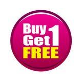 1 αγοράζει ελεύθερο παίρ&n Στοκ Φωτογραφία