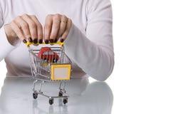 αγοράζοντας το αυτοκίν&eta Στοκ Εικόνες