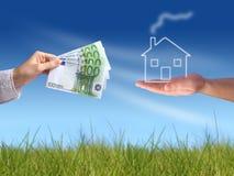 αγοράζοντας το σπίτι νέο Στοκ Εικόνες
