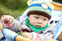 Αγοράκι πλεκτό στο χειμώνας καπέλο Στοκ Φωτογραφίες