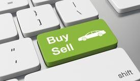 Αγοράστε ή πωλήστε ένα αυτοκίνητο ελεύθερη απεικόνιση δικαιώματος