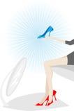 αγοράστε τα νέα παπούτσια Στοκ Φωτογραφία