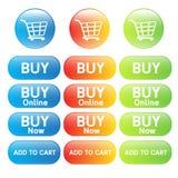 Αγοράστε το σε απευθείας σύνδεση κάρρο αγορών Στοκ εικόνες με δικαίωμα ελεύθερης χρήσης