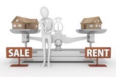 αγοράστε το σπίτι η προσπά&the απεικόνιση αποθεμάτων