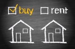 αγοράστε το σπίτι Στοκ Φωτογραφία