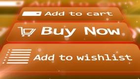 αγοράστε τώρα προσθέστε το κάρρο Προσθέστε στο wishlist Στοκ εικόνα με δικαίωμα ελεύθερης χρήσης