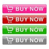 Αγοράστε τώρα τα εικονίδια κουμπιών καθορισμένα αγορές πώλησης λογότυπων αρχείων AI επίσης avaialable απεικόνιση αποθεμάτων