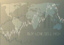 Αγοράστε χαμηλό, πωλήστε υψηλό διανυσματική απεικόνιση
