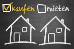 Αγορά ή ενοικίαση ενός σπιτιού Στοκ εικόνα με δικαίωμα ελεύθερης χρήσης