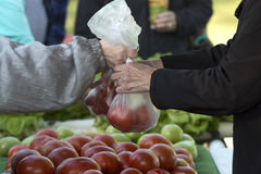 Αγορά αγοράς αγροτών στοκ εικόνες με δικαίωμα ελεύθερης χρήσης