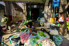 Αγορά αγροτών ακρών του δρόμου Στοκ Εικόνα
