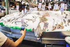 Αγορά αγροτών θέσεων λούτσων στο Σιάτλ, ΗΠΑ στοκ φωτογραφίες με δικαίωμα ελεύθερης χρήσης