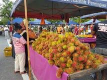 Αγορά αγροτών σε Paroi Jaya, Seremban, Negeri Sembilan στη Μαλαισία Στοκ εικόνα με δικαίωμα ελεύθερης χρήσης